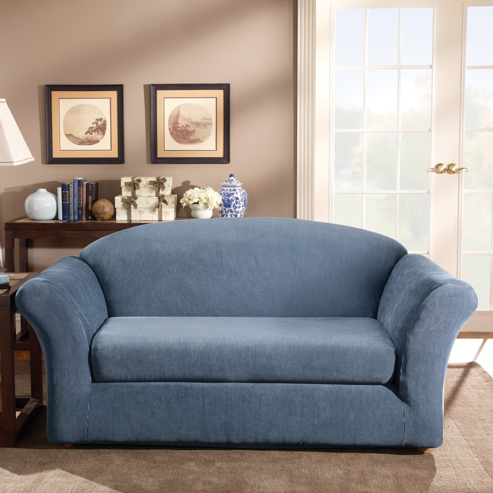 Sure Fit Stretch Stripe Sofa Slipcover Walmart