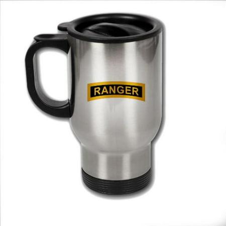 (Stainless Steel Coffee Mug with U.S. Army Rangers (Airborne) tab)