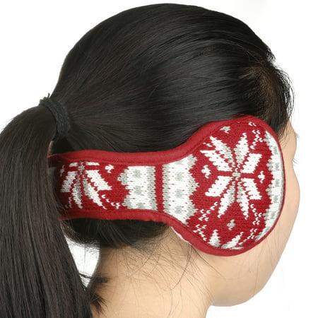 Warm Foldable Winter Knit Earmuffs for Women Men Khaki - image 4 de 5