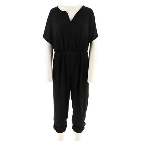 Dolman Crop - Lisa Rinna Collection Petite Dolman Slv Knit Jumpsuit A292276