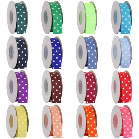 Threadart Grosgrain Dots Ribbon - 7/8