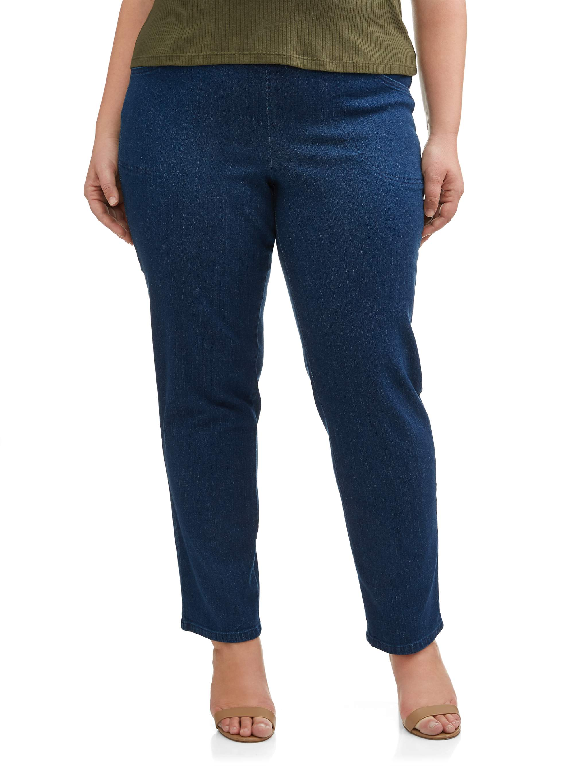 78f21d5887a Just My Size - Women s Plus-Size 2-Pocket Pull-On Stretch Woven Pants
