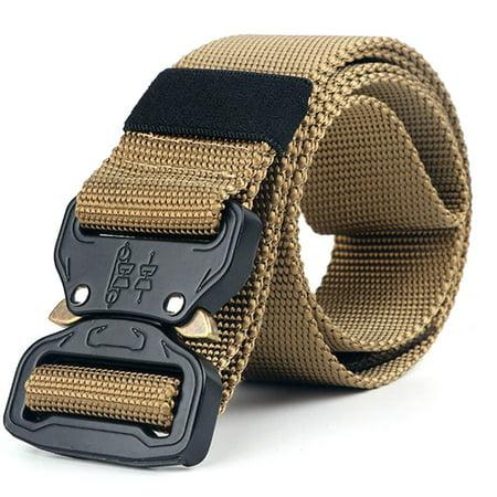 KABOER Tactical Belt Men Adjustable Heavy Duty Military Tactical Waist Belts With Metal Buckle Nylon Belt Hunting Accessories Belt Accessories Buckle