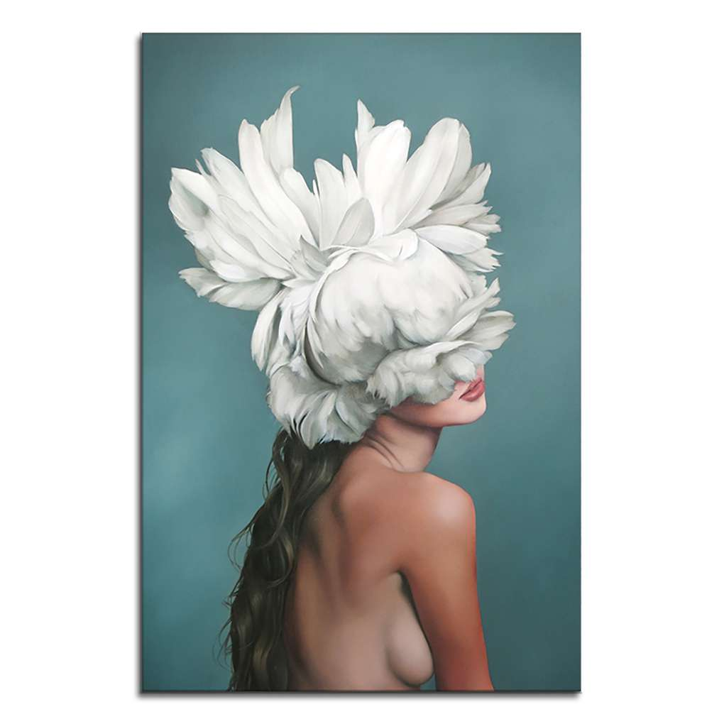 Outdoorline Women Feather Body Art Oil Painting Girls Wall Pictures Oil Drawing Photo For Living Room Hall Office Hotel Walmart Canada