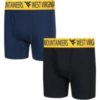 West Virginia Mountaineers Concepts Sport Duo Boxer Briefs - Navy/Black