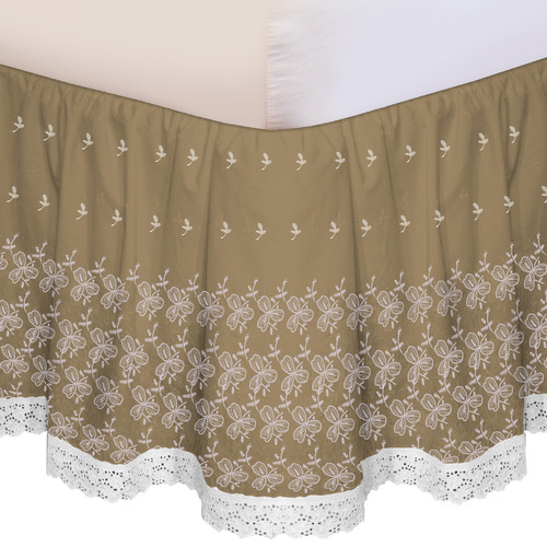 Veratex, Inc. Embroidered Bed Skirt
