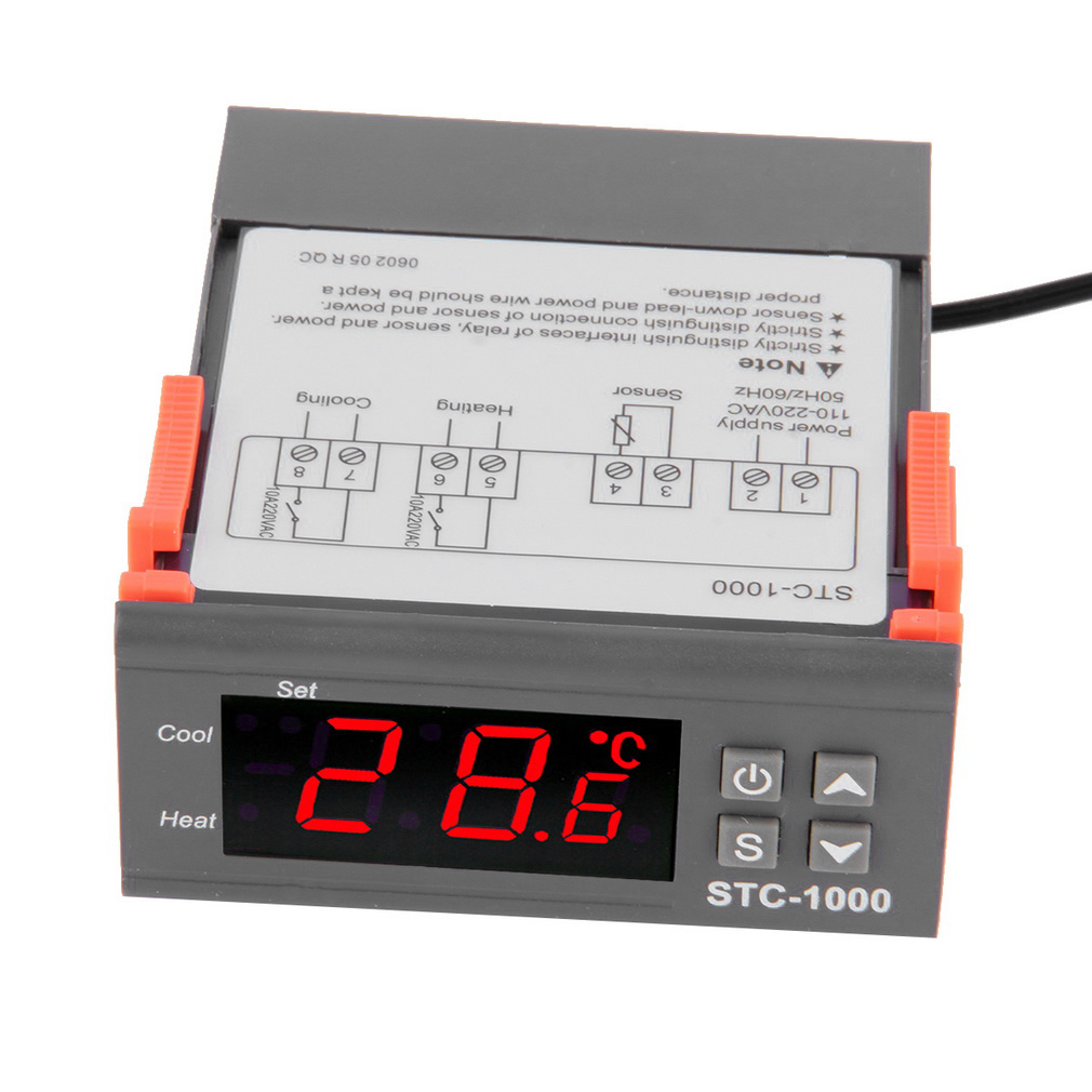 Temperature Controller Thermostat Aquarium STC1000 Incubator Cold Chain Temp Laboratories temperature