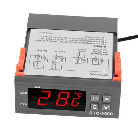 Temperature Controller Thermostat Aquarium STC1000 Incubator Cold Chain Temp Laboratories temperature