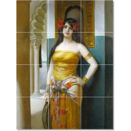 Ceramic Tile Mural Leon Francois Comerre Women Painting 208 24 w x 32