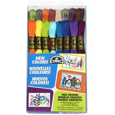 DMC New Colors Embroidery Floss Pack, 16 Piece (Dmc Embroidery Floss Color Chart With Names)