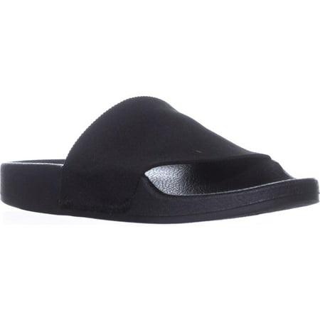 Womens madden girl Zekee Slide Sandals, Black (Black Womens Sandals)