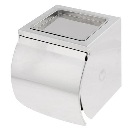 salle bains acier inoxydable bo te rouleau papier toilettes porte cendrier. Black Bedroom Furniture Sets. Home Design Ideas