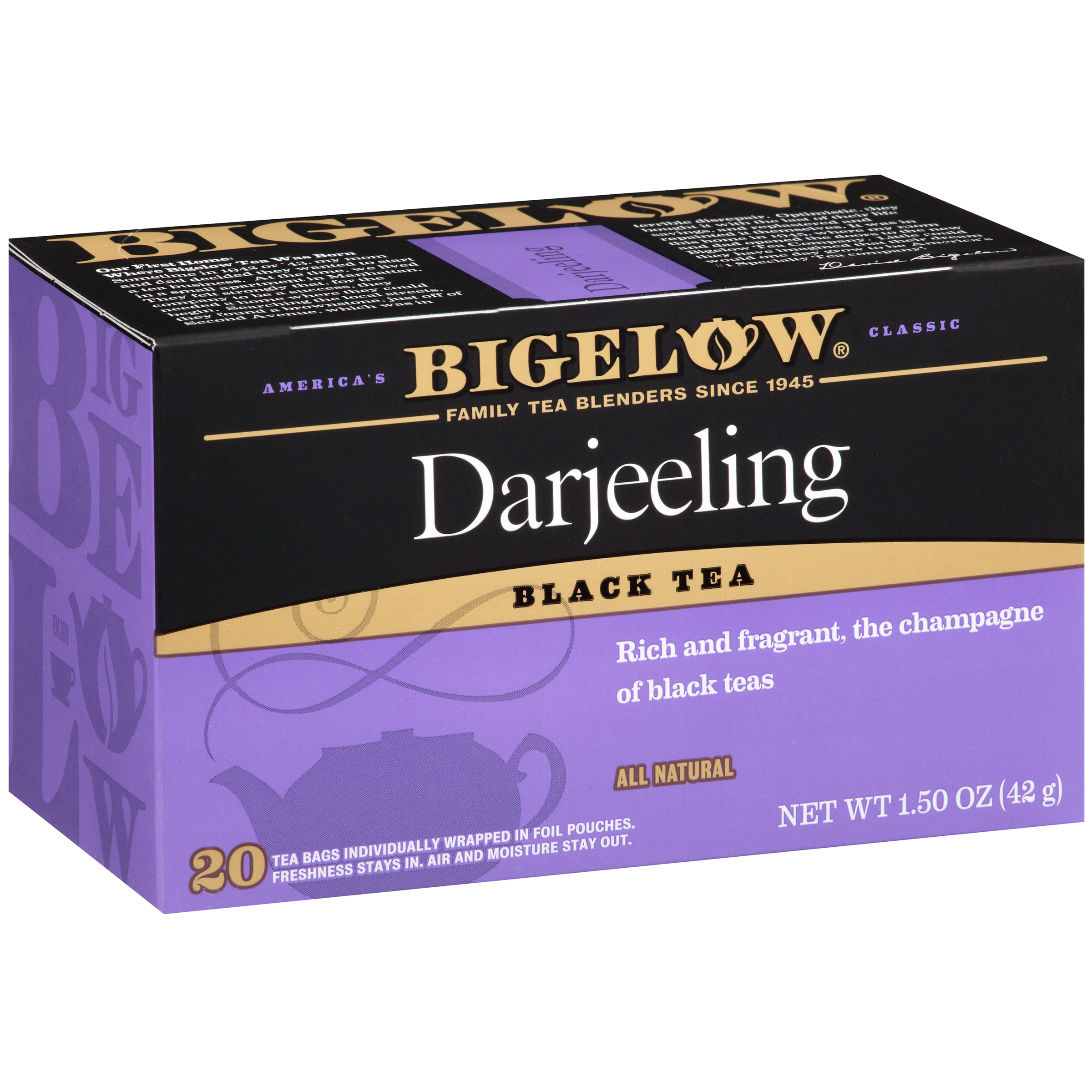 Bigelow, Darjeeling, Tea Bags, 20 Ct