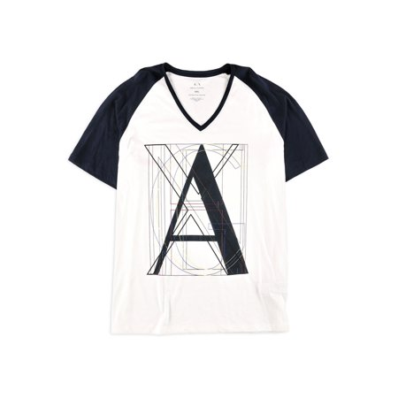 Armani White T-shirt (Armani Mens Logo Graphic T-Shirt)