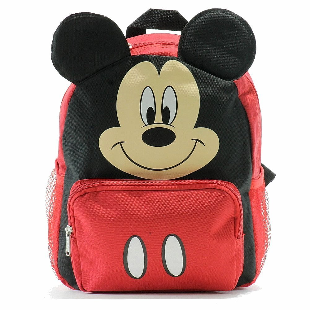 Small Backpack - Disney - Mickey Mouse Face/Ears New School Bag 052361