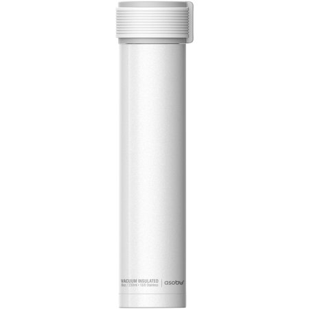 21b090a9d Asobu 8 Ounce White Skinny Mini Water Bottle - Walmart.com