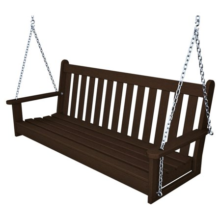 Teak Swing Seat - POLYWOOD® Vineyard Recycled Plastic 5 ft. Porch Swing