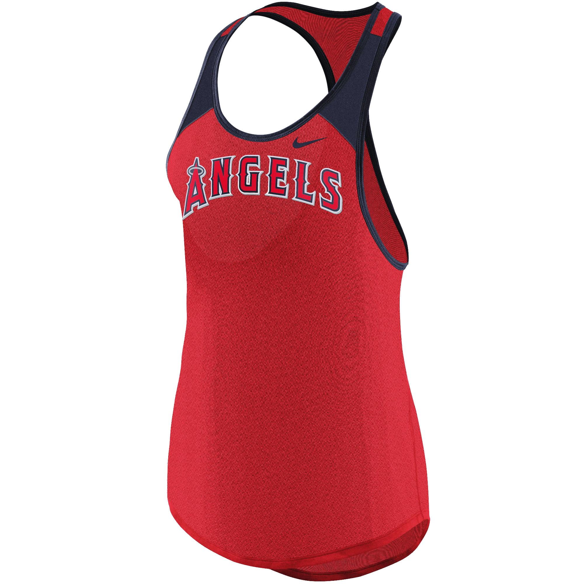 Los Angeles Angels Nike Women's Wordmark Legend Tank Top - Red