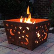 Esschert Design Star Amp Moon Wood Burning Fire Pit