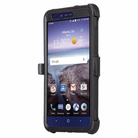 uk availability 4d02b bba2b ZTE Max Duo LTE, ZTE Carry, Blade X Max, ZTE ZMAX Pro Case, ZTE Grand X Max  2 Case, Imperial Max Case, Rugged [Shock Proof] Heavy Duty Belt Clip ...