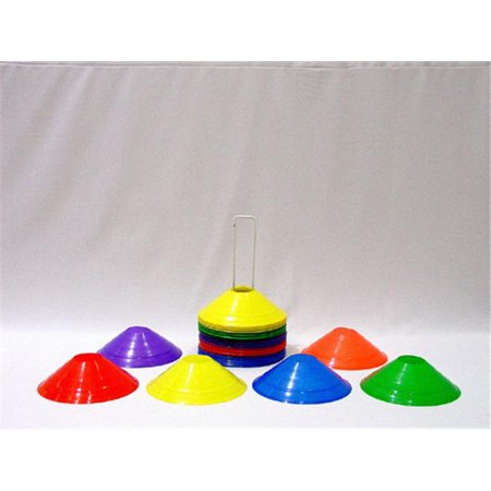 Everrich Evb 0003 8 X 2 Inch Half Cones   36 Pieces Of 6 Colors