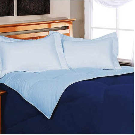 Image of Down Comforter, Reversible Microfiber