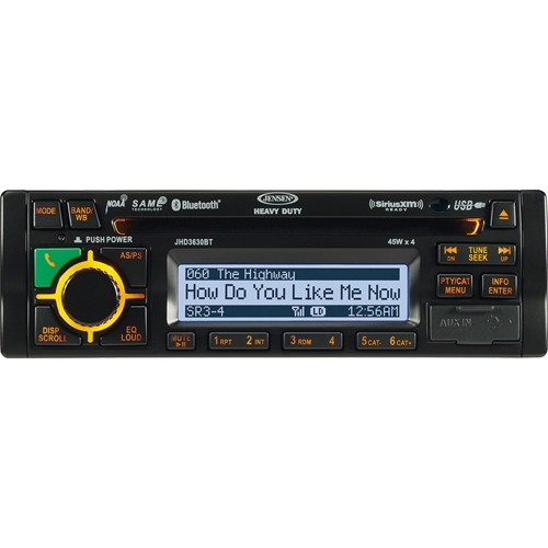 Jensen JHD3630BTB AM FM WB CD RBDS USB SiriusXM,iPod Ready Stereo with Bluetooth by Jensen