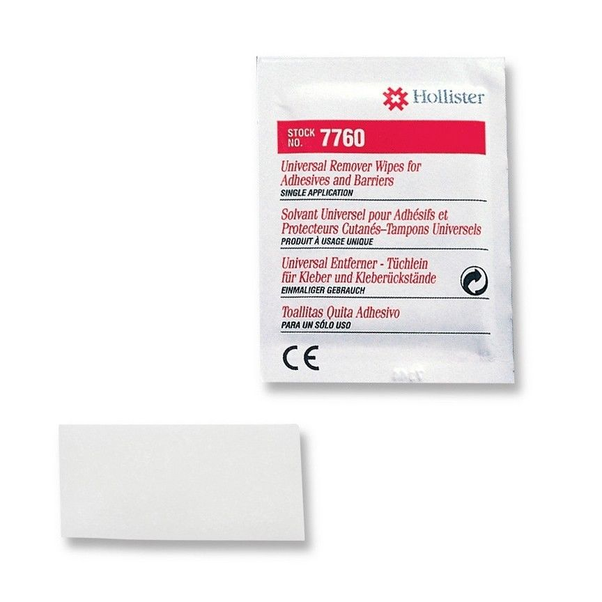 Hollister 7760 Adhesive Remover Wipes 50ct