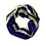 Peach Couture Sassy Stripes Infinity Loop Fashion Scarf Navy
