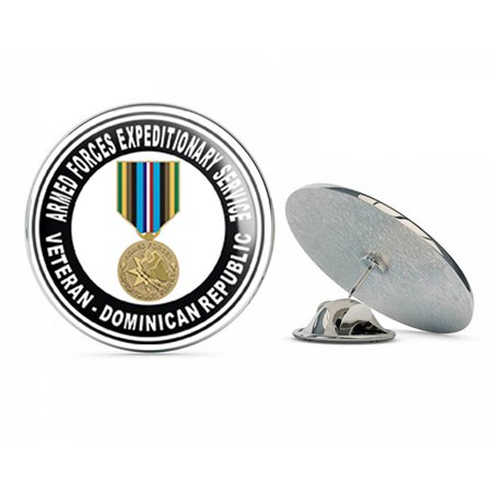 Armed Forces Expeditionary Medal Dominican Republic Steel Metal 0.75