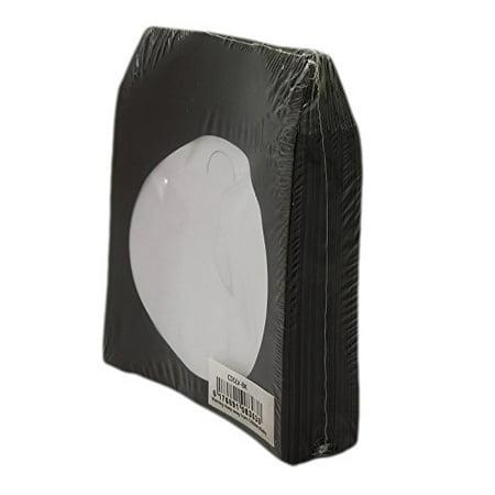 Paper Sleeve Flap Clear Window (BestDuplicator Black Cd/Dvd Paper Media Sleeves Envelopes with Flap and Clear Window (100 Sleeves) )