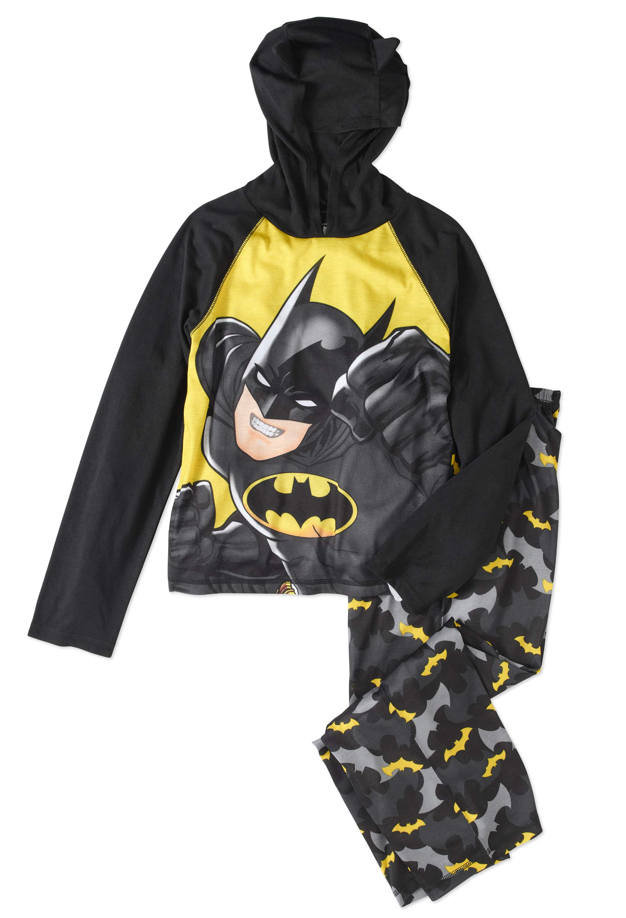 Batman Boys' 2pc Hooded Pajama Set by Komar Kids