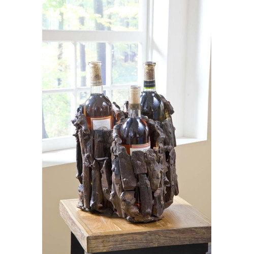Groovystuff Chris Bruning Drifter Trio 3 Bottle Tabletop Wine Rack