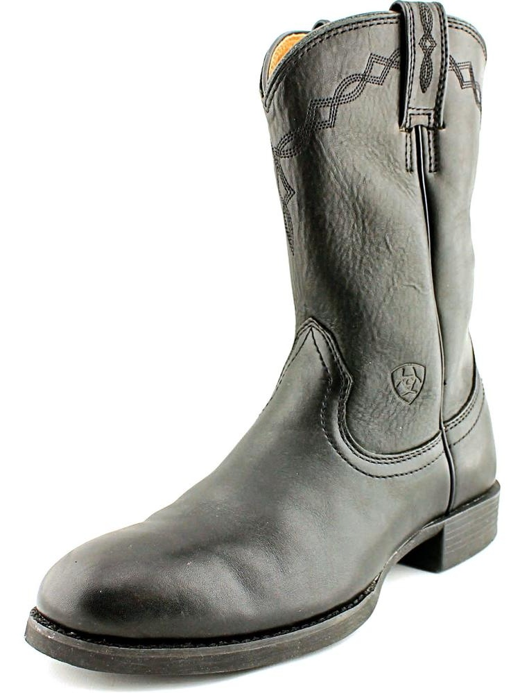 Ariat Heritage Roper Women Round Toe Leather Black Western Boot by Ariat