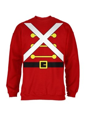 077c2330f03 Product Image Christmas Toy Soldier Costume Red Adult Sweatshirt. Old Glory