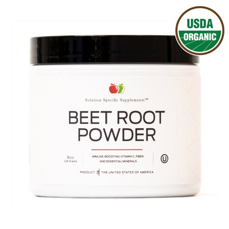 Pure Organic Beet Root Powder Supplement - 8oz 60 Serving Pure Organic Beetroot Juice Powder & Bulk Raw Concentrate