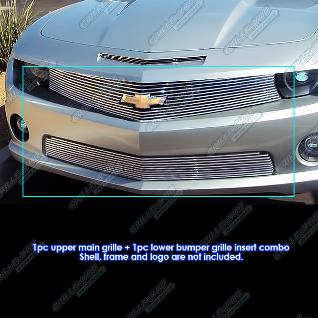Fits 2010-2013 Chevy Camaro SS V8 Billet Grille Grill Logo Show Combo #C67639A