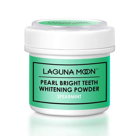 LAGUNAMOON Pearl Bright Teeth Whitening Powder,Natural Tooth & Gum Powder- Spearmint 1.76 Fl.