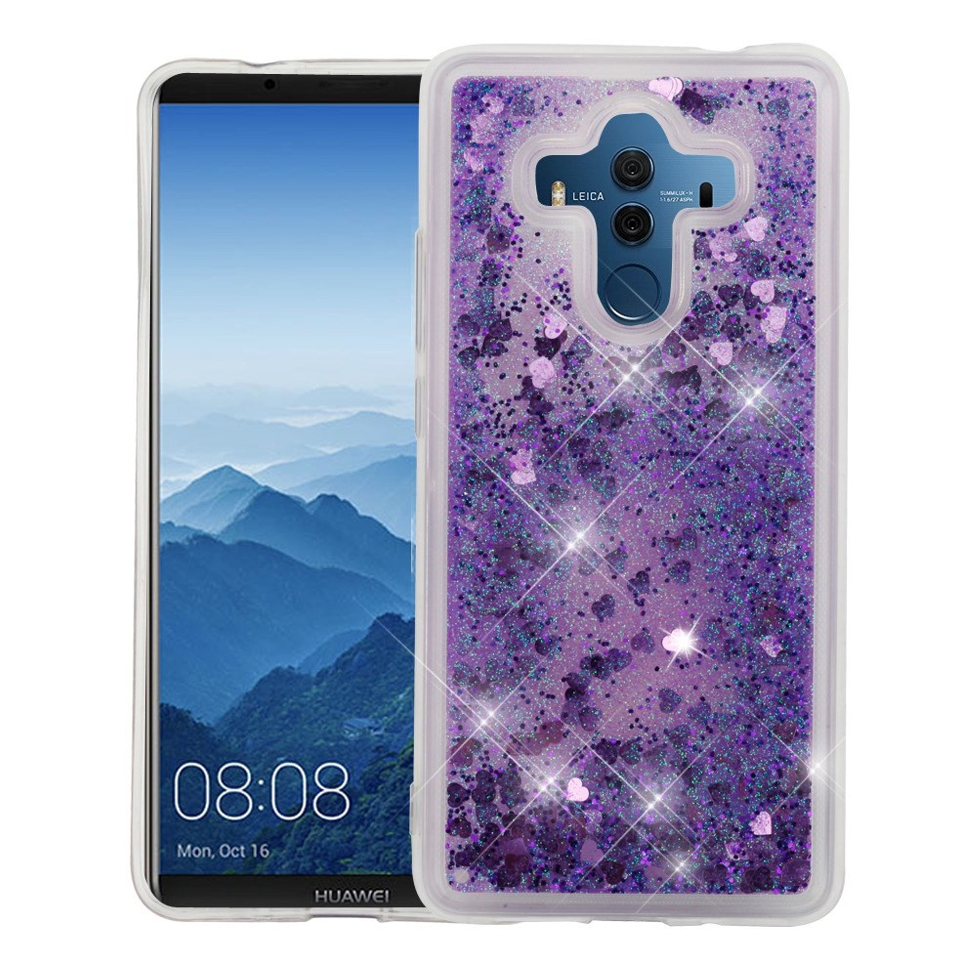 Huawei Mate 10 Pro case by Insten Luxury Quicksand Glitter Liquid Floating Sparkle Bling Fashion Phone Case Cover for Huawei Mate 10 Pro