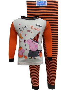Peppa Pig And George Trick Or Treat Cotton Toddler Pajamas 2T