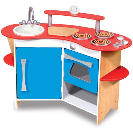 Melissa & Doug Cook's Corner Wooden Kitchen Pretend Play Set