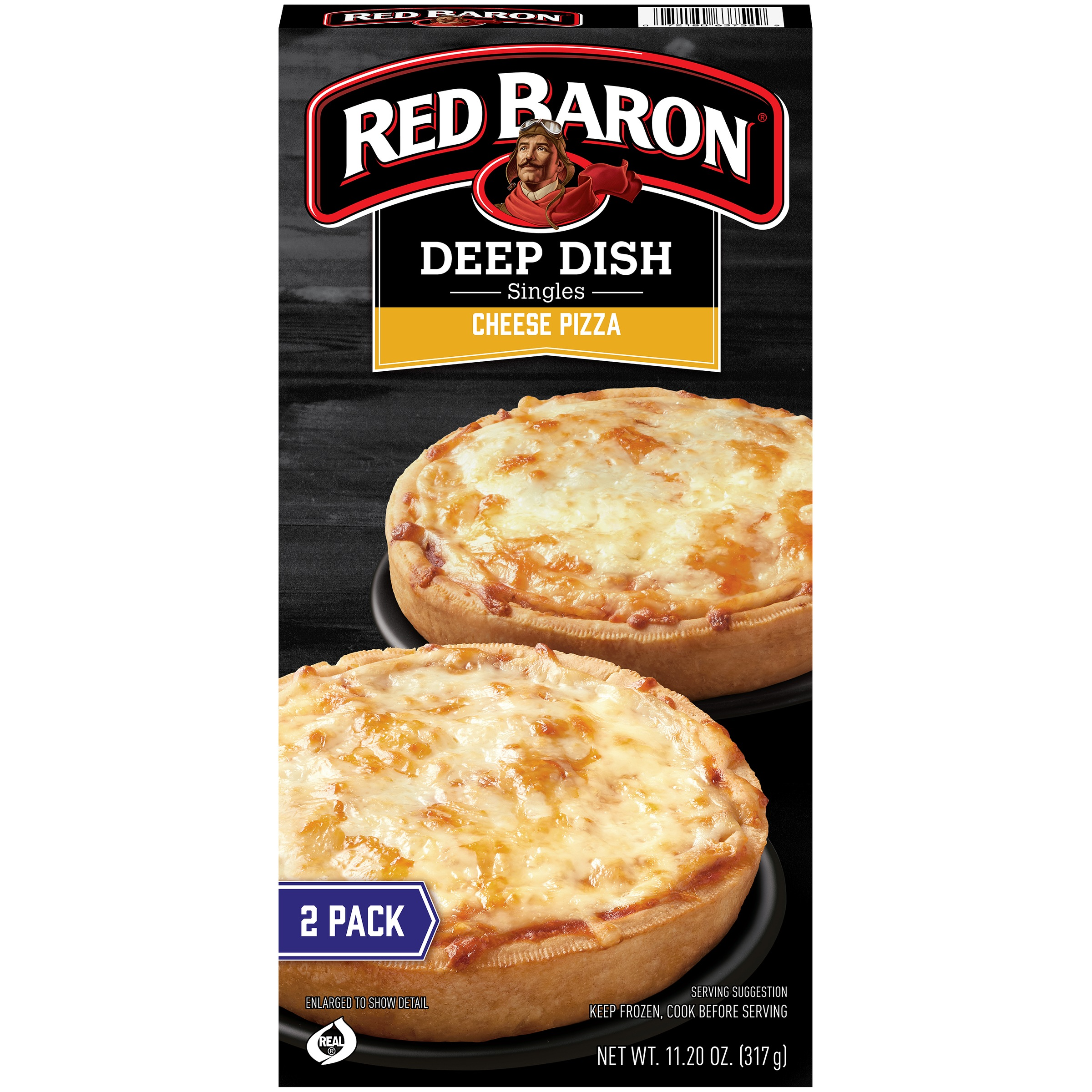 Red Baron® Singles Deep Dish Cheese Pizzas 11.20 oz. Box