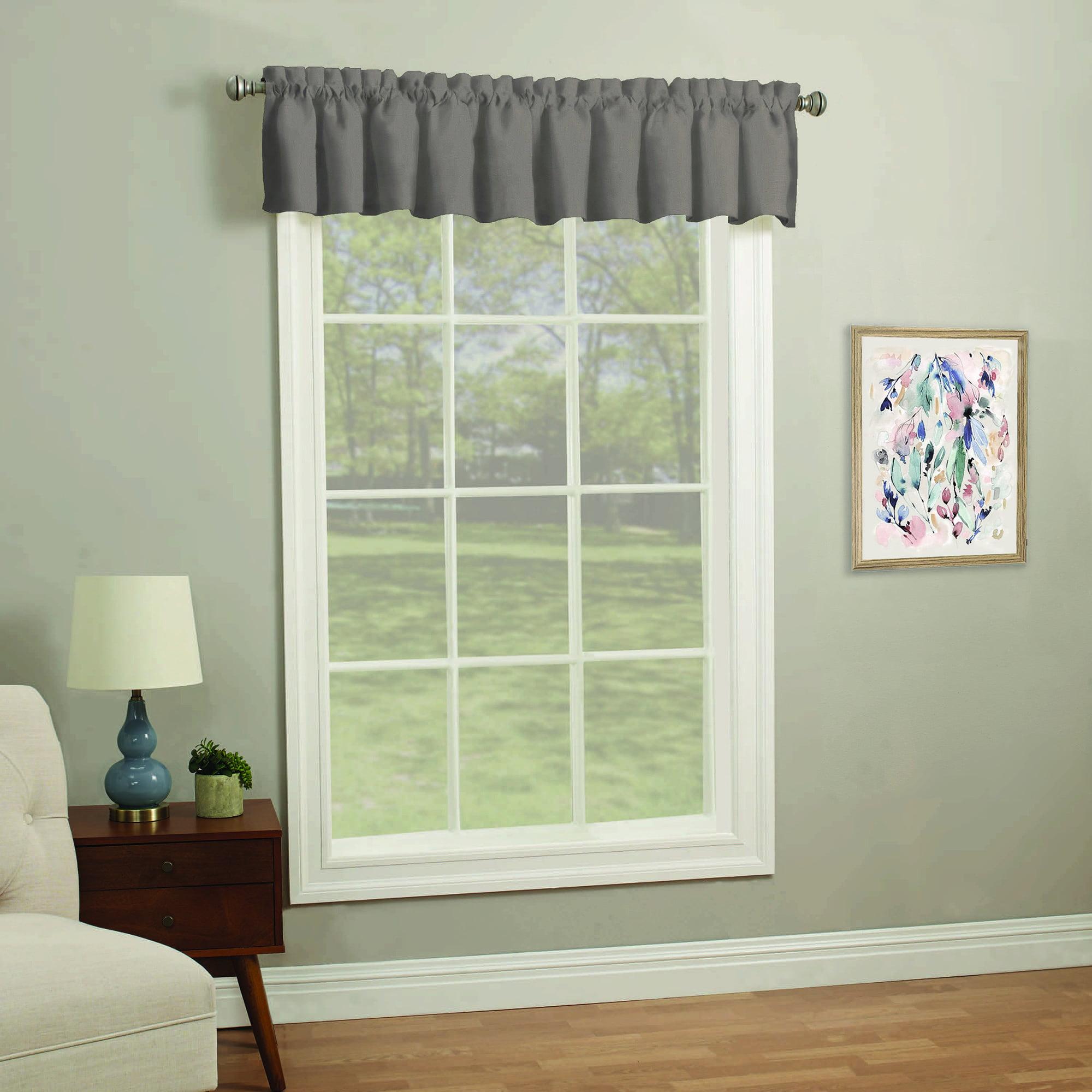 Mainstays 56'' x 14'' Fashion Solid Window Curtain Valance
