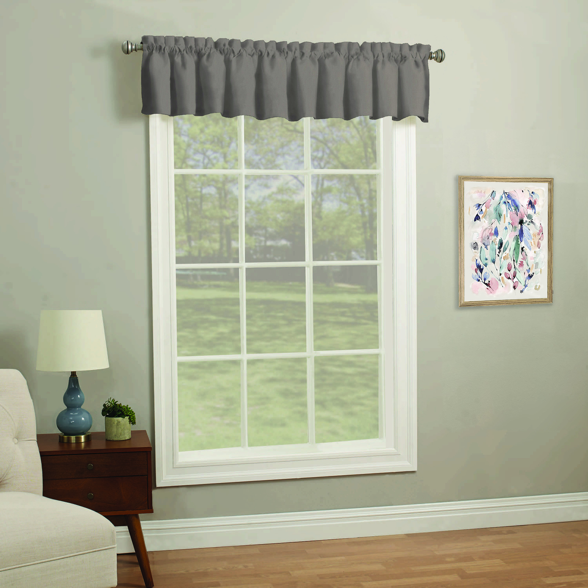 Mainstays Fashion Solid Window Valance