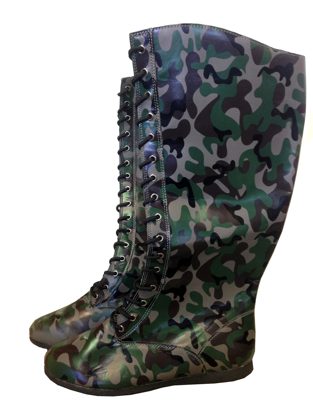 Camo Adult Pro Wrestling Boots WWF WWE Camouflage Costume Military Hero Boxing by MyPartyShirt