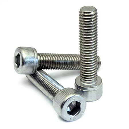 (10) M8-1.25 x 30mm (FT) - Socket Head Cap Screws, Stainless Steel Grade A2 (18-8), DIN 912 / ISO 4762, Hex (Allen) Key Drive - MonsterBolts (10, M8 x 30mm) ()