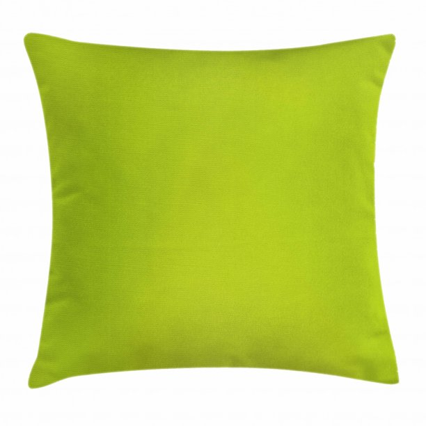 Lime Green Throw Pillow Cushion Cover Empty Backdrop Blurry Off Focus Pastel Toned Shade Color Spring Theme Abstract Decorative Square Accent Pillow Case 20 X 20 Inches Apple Green By Ambesonne
