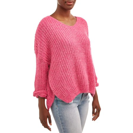 Women's V-Neck Pullover Sweater (Columbia Spring Sweater)