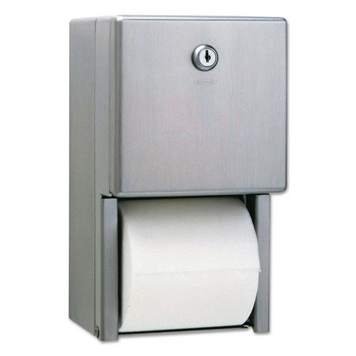 Bobrick Stainless Steel Two-Roll Tissue Dispenser
