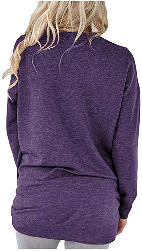 PLOKNRD Pocket Shirts for Women Casual Loose Fit Short Sleeve Tunic Top Baggy Comfy Blouse